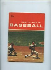How To Star In Baseball Paperback Book  by Herman Masin 1960 Mickey Mantle