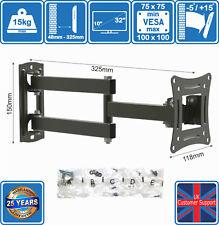 LED LCD TV Wall Mount Bracket VESA 100 x 100 Tilt Swivel 16 19 20 22 24 32 Inch
