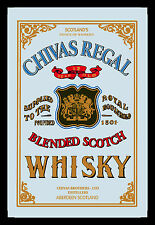 Chivas Regal Scotch Whisky Nostalgie Miroir de BAR Miroir BAR 22 X 32 CM