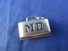 Vintage Sterling Silver M.D. Briefcase Charm