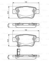 Bosch Rear Brake Pad Set 0986495073 - GENUINE - 5 YEAR WARRANTY