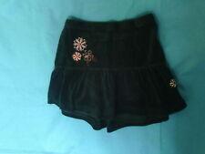 Girls 2-3 Years - Black Velour Tiered Embroidered Skirt  - Cherokee