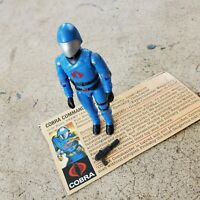 Vintage GI Joe Figure 1983 Cobra Commander complete with file card
