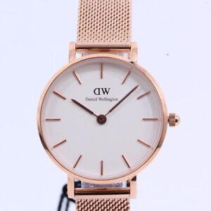Daniel Wellington Ladies Classic Rose Gold White Dial Petite Melrose Watch