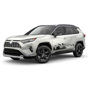 Mountain Stripes For RAV4 TOYOTA Decal Off Road 4x4 graphics 2019 2020 2021 PHEV