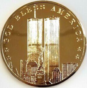 Sept. 11, 2001 commemorative One Troy Pound 0.999 Fine Silver Round! NO RESERVE!