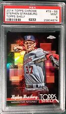 2014 TOPPS CHROME TOPPS SHELF STEPHEN STRASBURG CARD #TS-SS PSA 9 NATIONALS