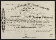 Australia: Southern Cross Quarzo Mining Co., gippsland, Victoria, 1865