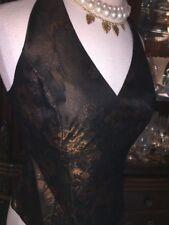 PARTY METALLIC TOP Dressy DAVIDS BRIDAL SZ 10 M EVENING Formal Halter NWT $79
