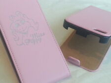 Iphone 4 4s MISS PIGGY GENUINE LEATHER pink flip phone case cover five Apple pig