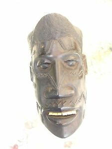 superb antique solid rosewood African face mask