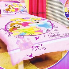 Disney Princess Wishes Can Come True Double/Full Bed Quilt Doona Duvet Cover Set