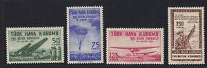 """TURKEY 1961 TURKISH AVIATION SOCIETY SET COMPLETE MINT NH INSRB """"XVII BUYUK KON"""