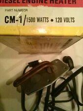 Kats Diesel Engine Heater Great For Winter CM-1/1500 Watts 120 Volts