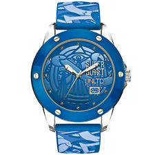 Marc Ecko The Tran Blue Dial Watch E09530G8 and a Blue Silicone Strap