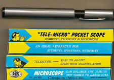 "1 Chadwick-Miller ""Tele-Micro"" Pocket Scope Hong Kong Mint In Box"
