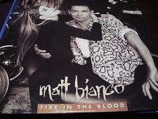 """MATT BIANCO FIRE IN THE BLOOD UK 12"""" EAST WEST YZ532T 1990 LATIN"""