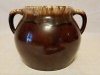 Hull USA Pottery Brown Drip Bean Pot - no cover