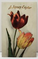 Embossed Easter Tulips Gold Gilded 1908 Postcard C17