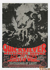 Quicksilver Messenger Service 1968 Aug 9 Sound Factory Sacramento Handbill