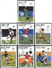 Cambogia 1089-1095 (edición completa) usado 1990 fútbol-WM. Italia