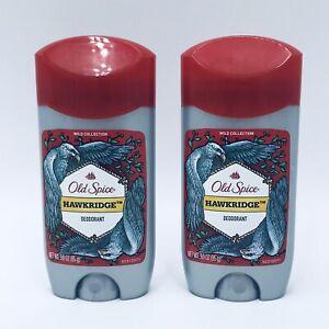 2 Old Spice Hawkridge Wild Collection Men's Deodorant 2.6 oz Each Discontinued