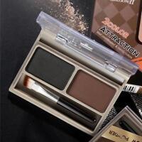 2Color Eyebrow Powder Palette Belt Brush Beauty Makeup Cosmetic Tool Waterproof