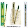 Irish Tin Whistle Waltons Key D C Loose Packs Mellow Instruction Leaflet Kids