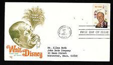 #1355 6c Walt Disney - Marg FDC With Letter inside