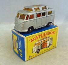 Lesney Matchbox Toys MB34c Volkswagen Camper Van with High Roof