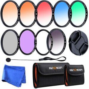 K&F Concept 46mm Complete Lens Filte Set UV CPL Graduated Filter for Camera Lens