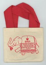 John Ascuaga's Nugget small Canvas Coin Tote I Love Bingo - Traveling Elephant