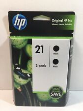 HP 21 Black Ink Twin Set Genuine Brand New Expires Feb 2021 Free Shipping