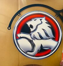 NEW Holden GMH Lion Blue Large Round double sided with hanger tin metal sign
