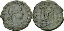 Constantius II Follis Rom 337-340 SECVRITAS REIP Securitas Säule Zepter RIC 44 R