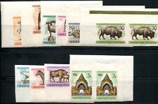 UNGARN 1961 1727-1736B ** POSTFRISCH UNGEZÄHNT PAARE 300€(S1221