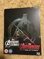 Avengers Assemble And Age Of Ultron (Blu Ray 3D / 2D Embossed steelbook)