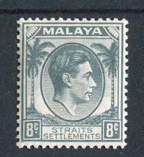 Malaya Straits Settlement KGVI 1937-41 8c grey SG283 LMM