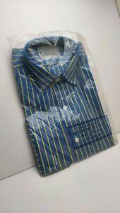 Charles Tyrwhitt Shirt - collar size 15 - blue and gold stripe