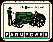 (VMA-L-6420) Farm Power Vintage Metal Art Country Tractor Farm Retro Tin Sign