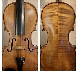 Beautiful Unique Antique Mid 19th Century German 4/4 Violin. With Sound Sample