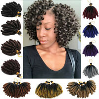 US Jumpy Wand Bounce Spiral Curly Hair Extensions Twist Crochet Braids Synthetic