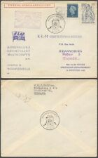 Netherlands 1949 - Air mail cover Flight to Johannesburg South Africa D28