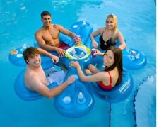NEW Rave Sports Aviva 1020272 Ahh-qua Bar Group Pool Float w/ 4 Solar Seats