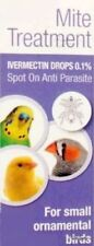 SCALY FACE MITE AND AIR SAC MITES IN BUDGERIGARS PARAKEERTS FINCHES & BIRDS