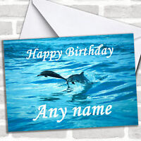 Diving Dolphins Personalized Birthday Card