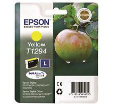 Cartouche Originale EPSON T1294 Pomme Encre Yellow Genuine Neuve Scellé 10/2015