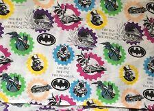 Vintage Batman Flat Twin Bed Sheet The Bat The Cat The Penguin 1992 DC Comics