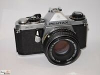 Pentax ME SLR-Kamera + Objektiv 2,0/50mm SMC Pentax-M multi coated PK-mount