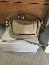 anya hindmarch, Limited Addition,  Stunning Lazer Cut Gold Leather Bag.